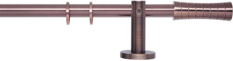 Gardinenstange 1- oder 2-läufig nach Maß ø 20 mm, Indeko, »Innsbruck« in bronziert