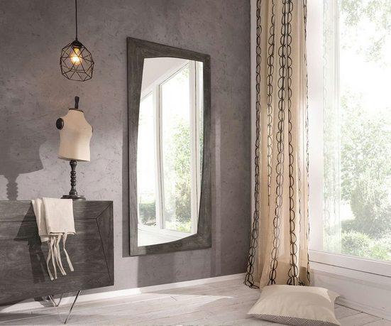 DELIFE Spiegel »Wyatt«, Akazie Platin 160x70 cm Designer Wandspiegel
