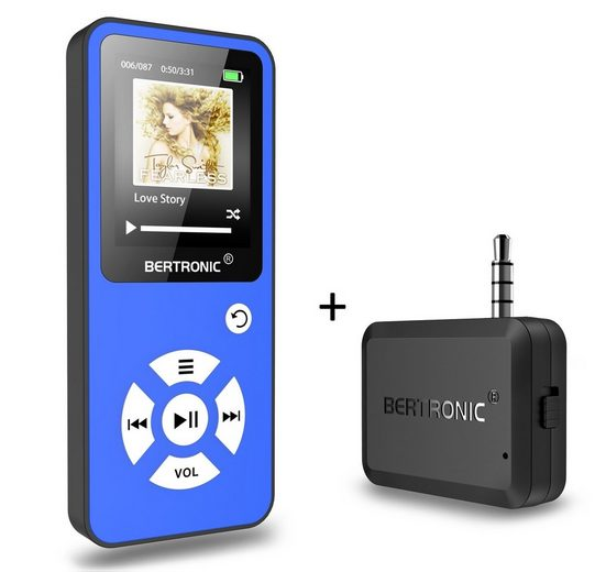 BERTRONIC »Royal BC01« MP3-Player (16 GB Speicherkarte, Made in Germany, Audio-Player mit Bluetooth Adapter)