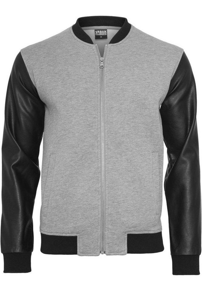urban classics -  Allwetterjacke »Zipped Leather Imitation Sleeve Jacket«
