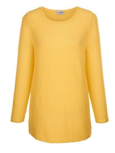 MIAMODA Pullover aus schönem Ajourstrick