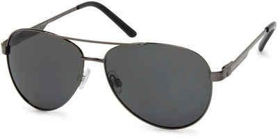styleBREAKER Sonnenbrille »Polarisierte Piloten Sonnenbrille mit Etui« Polarisiert