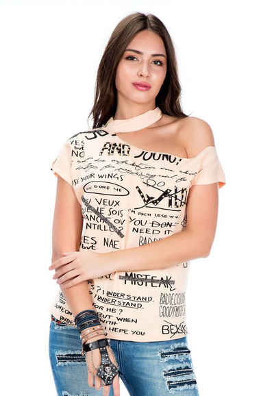 Cipo & Baxx T-Shirt mit ungewöhnlicher Passform