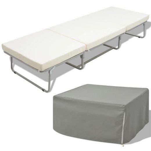 vidaXL Klappbett »vidaXL Klappbett mit Matratze Weiß Stahl 70×200 cm«