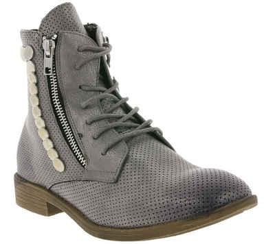 Arizona »ARIZONA Schuhe Boots coole Damen Schnür-Stiefeletten Stiefel Grau Used« Stiefelette