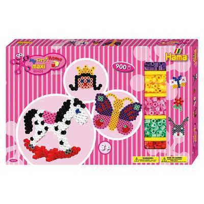 Hama Perlen Bügelperlen »HAMA 8713 Geschenkset pink, 900 maxi-Perlen &«