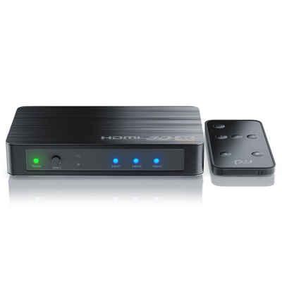 Primewire Audio / Video Matrix-Switch, Ultra HD 4k 3-Port HDMI Umschalter inkl. Fernbedienung 3x HDMI IN / 1x HDMI OUT