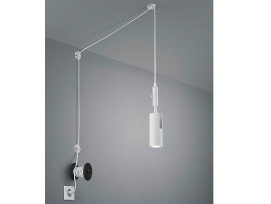 TRIO LED Pendelleuchte, Spot Industrie-Lampe höhenverstellbar mit langem Lampen-Kabel Stecker hängend, Decken-Strahler für hohe Räume, Esszimmer, Schlafzimmer, Wohnzimmer und Flur