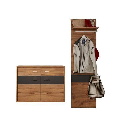ebuy24 Kleiderschrank »Coris Garderobenaufstellung K inkl. 2x LED Licht,«