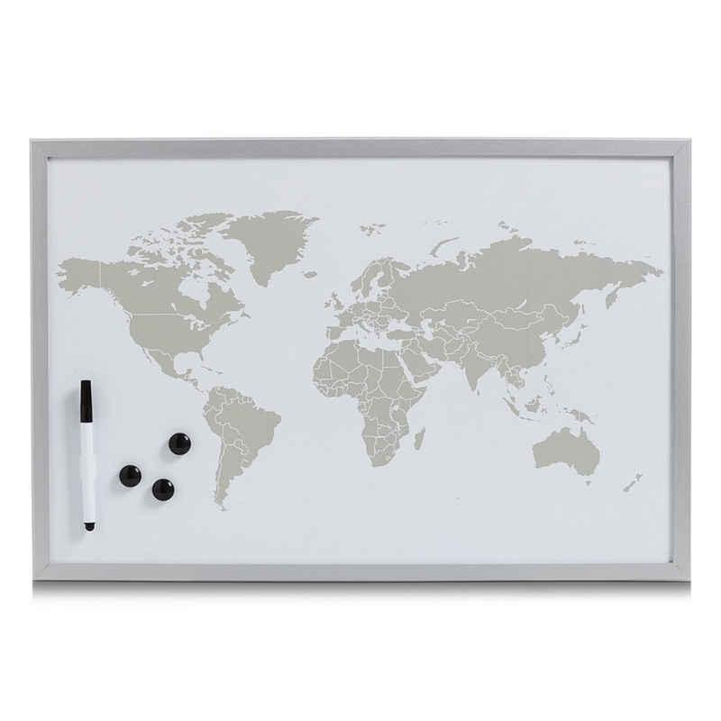 HTI-Living Pinnwand »Magnettafel beschreibbar World«, Magnettafel
