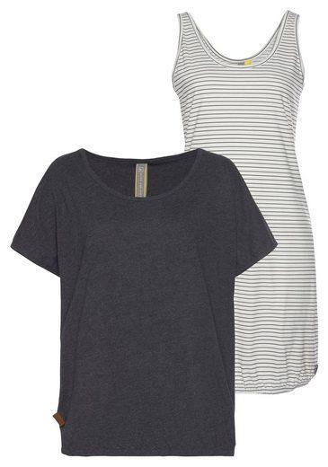 Alife & Kickin Jerseykleid »SunnyAK« (Set, mit T-Shirt) 2-in-1 Dress
