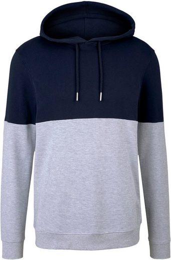 TOM TAILOR Denim Kapuzensweatshirt in Kontrast Farben