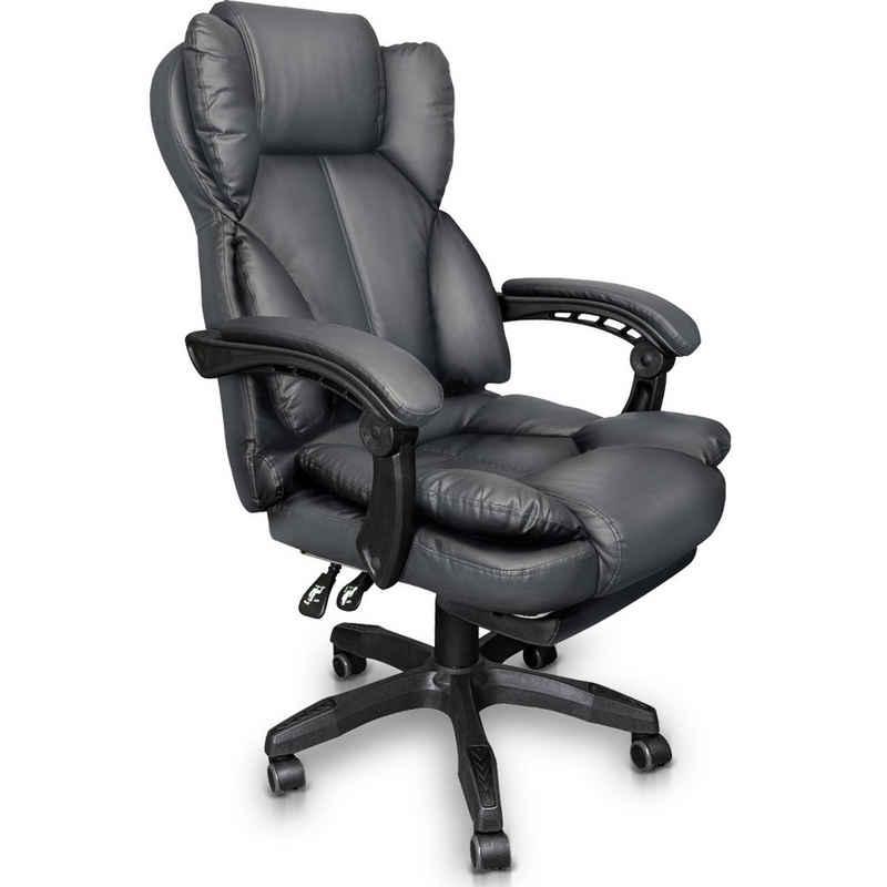 TRISENS Chefsessel »Rafael« (einzeln), Schreibtischstuhl Bürostuhl Gamingstuhl Racing Chair Chefsessel mit Fußstütze