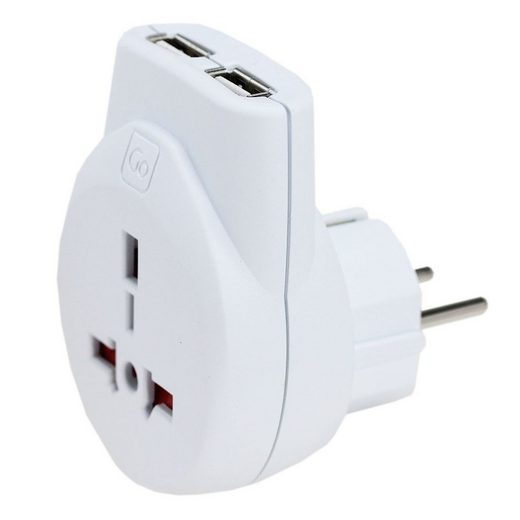 Go Travel Elektro + Elektronikgeräte USB-Adapter UK-Europa