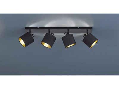 TRIO LED Deckenstrahler, dimmbarer Licht-Spot Strahler eckig 4-flammig Retro Decken-Strahler schwenkbare Flur-Beleuchtung