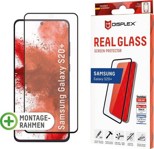 Displex »DISPLEX Real Glass Panzerglas für Samsung Galaxy S20+/S20+ 5G (6,7), 10H Tempered Glass, mit Montagerahmen, Full Cover« für Samsung Galaxy S20+, Displayschutzglas