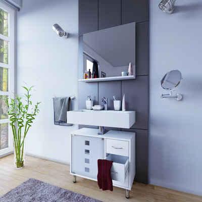 VCM Waschbeckenunterschrank »Badmöbel Unterschrank Darola mit Schubladen«