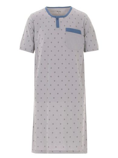 Henry Terre Nachthemd »Henry Terre Nachthemd Herren Kurzarm Loungewear Brusttasche Bedruckt«