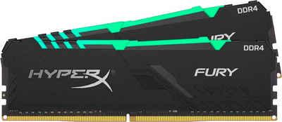 HyperX »HyperX Fury RGB DDR4 3200MHz 16GB (2x 8GB) Black« PC-Arbeitsspeicher