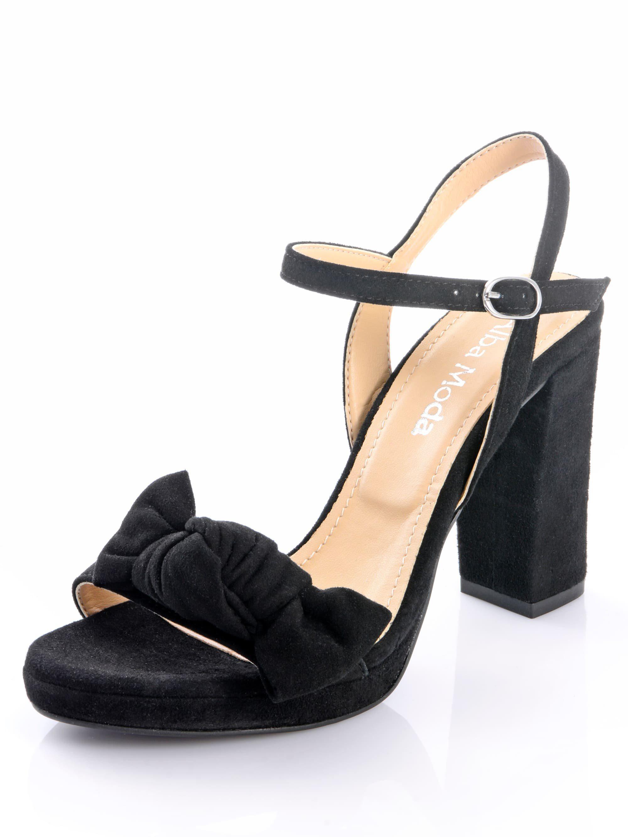 Alba Moda Sandalette aus Ziegenveloursleder kaufen | OTTO