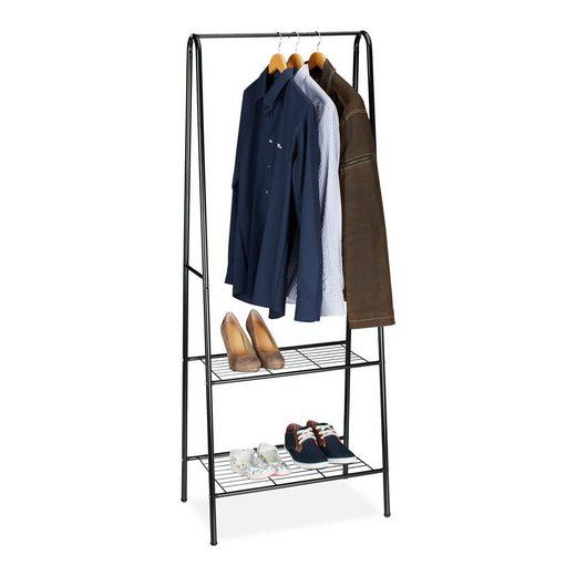 relaxdays Kleiderständer »Kleiderständer 2 Ablagen SANDRA«