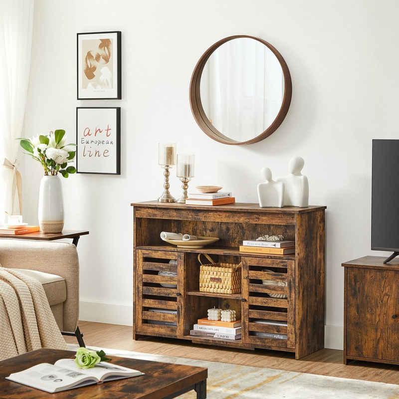 VASAGLE Anrichte »LBF003X01«, Beistellschrank, Küchenschrank mit Ablagen, Wohnzimmer, Esszimmer, Schlafzimmer, vintagebraun