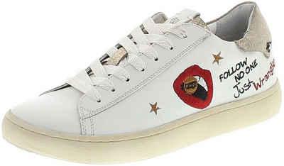 Wrangler »CLEVER LIPS Damen Low-Top Sneaker Weiss« Sneaker