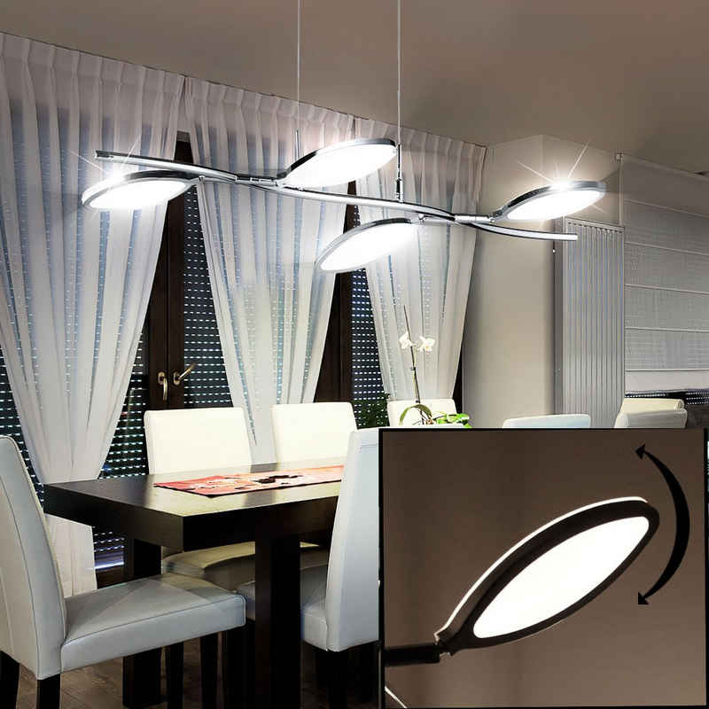 WOFI Hängeleuchte, LED Hänge Lampe Wohnraum Pendel Decken Leuchte Ringe verstellbar WOFI 7110.04.01.6000