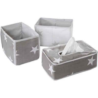 roba® Aufbewahrungsbox »Aufbewahrungsboxen Little Star, grau, 3tlg.«
