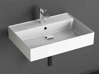 Aqua Bagno Waschbecken »Aqua Bagno Loft Air Design Keramik Waschbecken 60« (Packung)