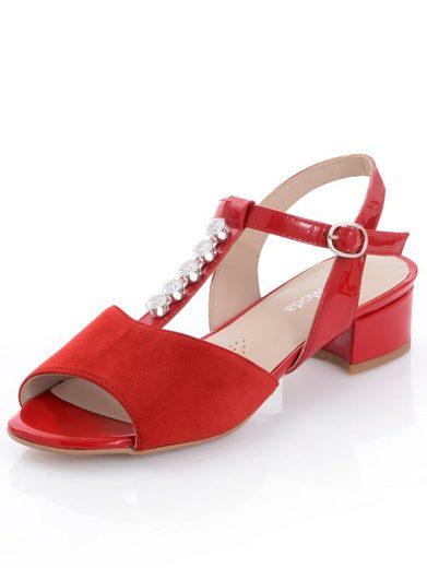 Alba Moda Sandalette mit funkelnden Strasssteinchen auf dem T-Steg