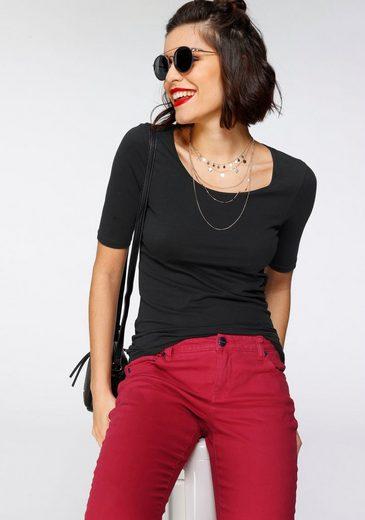 Tamaris T-Shirt mit verlängertem Kurzarm