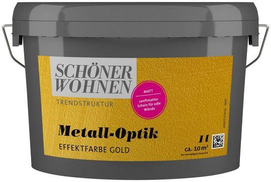 SCHÖNER WOHNEN FARBE Spezialfarbe »Metall-Optik Effektfarbe gold«, 1 l