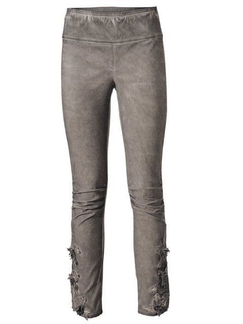 Hosen - ASHLEY BROOKE by Heine Leggings mit Spitzenbesatz › braun  - Onlineshop OTTO
