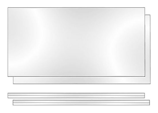 Phoenix Regalelement »Rückwand Altana«, Packung 2-tlg., B/H/T: 55.2/3/34 cm, Plexiglas