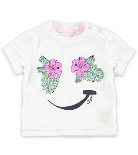 Vingino Longsleeve »VINGINO T-Shirt sommerlich weiches Kinder Rundhals-Shirt mit Smiley Aufdruck Freizeit-Shirt Weiß«