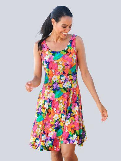Alba Moda Strandkleid mit buntem Blumendruck