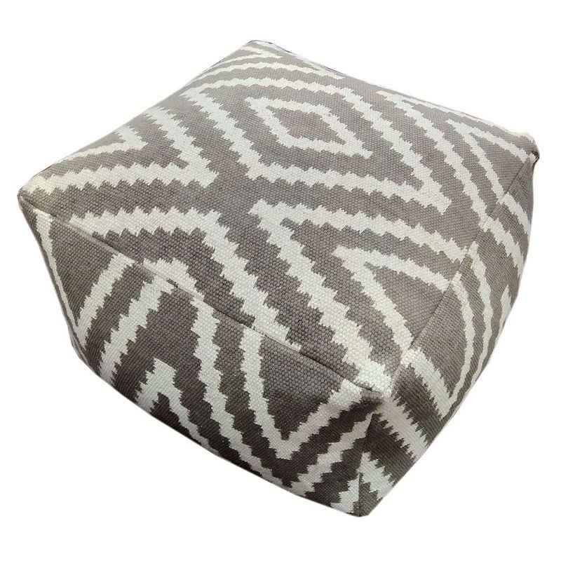 Casamia Sitzhocker »Sitzwürfel Fußhocker Sitzhocker 55x37x55 cm Pouf Kelim Bodenkissen Peru schwarz taupe gelb türkis«