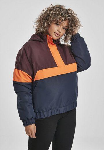URBAN CLASSICS Trainingsjacke »Ladies 3-Tone Neon Mix Pull Over Jacket«