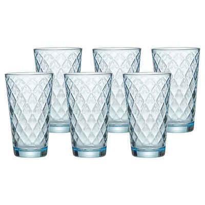 Ritzenhoff & Breker Glas »WELA Trinkglas 400 ml blau 6er Set«, Glas