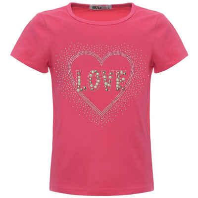 BEZLIT T-Shirt »Mädchen Sommer T-Shirt mit Glitzersteinchen und« (1-tlg) mit Motiv