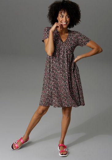 Aniston CASUAL Sommerkleid im Millefleurs oder großflächigen Blumendruck - schick sind beide