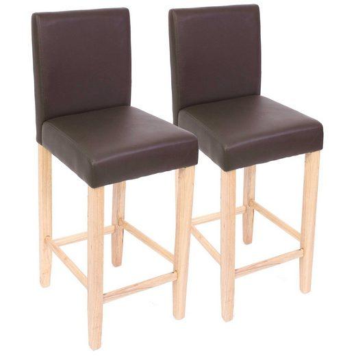 MCW Barhocker »Cesena-2BL« (Set, 2er), Gute Polsterung, auch für längeres Sitzen gut geeignet, Zeitloses Design
