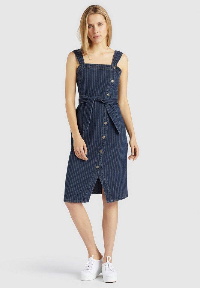 khujo -  Jeanskleid »AVIGAIL« aus gestreiftem Denim im Slim Fit