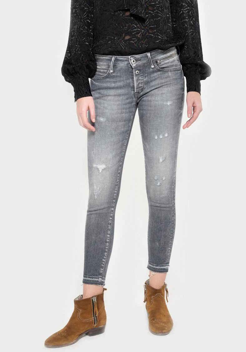 Le Temps Des Cerises Skinny-fit-Jeans »VIBE« mit leicht ausgefranster Kante
