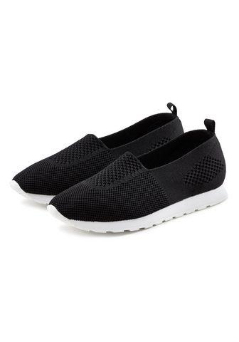 LASCANA Slip-On Sneaker iš Textil