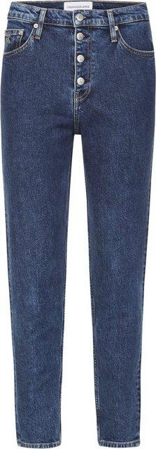 Hosen - Calvin Klein Jeans Mom Jeans »MOM JEANS« mit Button Fly Verschluss ›  - Onlineshop OTTO