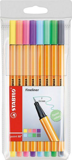 STABILO Dekorierstift »Fineliner point 88 Pastell, 8 Farben«