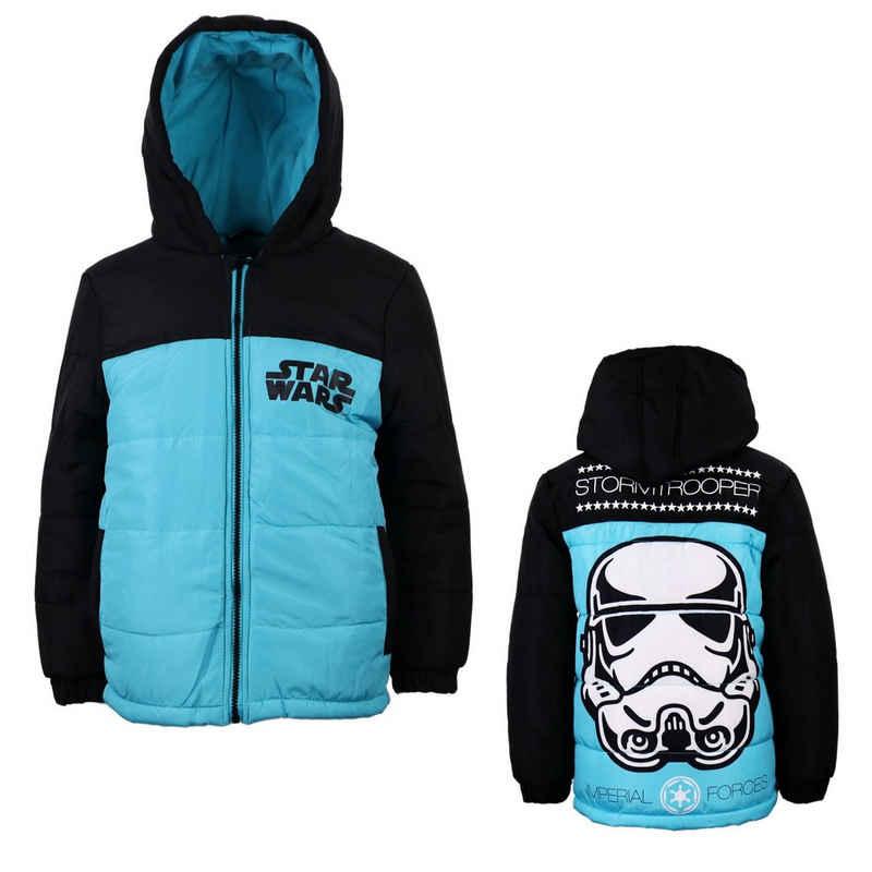 Star Wars Winterjacke »Storm Trooper Kinder Jacke« Gr. 110 bis 140, mit Kapuze und gefüttert