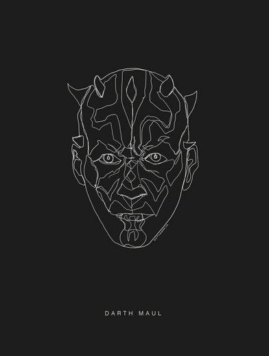 KOMAR Wanddekoration »Star Wars Lines Dark Side Maul«, ohne Rahmen